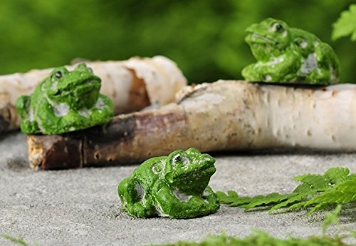 Gift Craft Cement Mini Frog Set