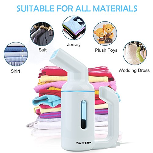 Garment Steamer, Handheld 150ML Clothes Steamer Fast-Heat Powerful Travel Garment Fabric Steamer Wrinkle Remover with Automatic Shut-Off Safety Protection, No Damage On Clothes by Talent Star (Image #6)