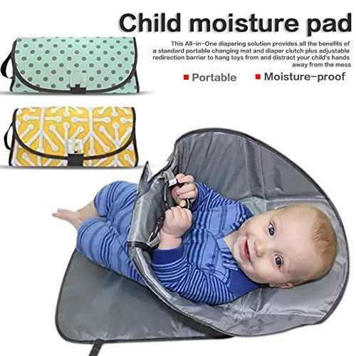 Baby Diaper Changing Pad, 8th team ( 3-in-1 )Waterproof Folding Portable Moisture-Proof Clean Hands Diaper, Travel Home Change Mat Organizer Bag for Toddlers Infants and Newborns. (yellow)