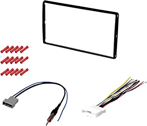 CACHÉ KIT2019 Bundle with Car Stereo Installation Kit for 2007 – 2010 Nissan Sentra – in Dash Mounting Kit, Harness, Antenna for Double Din Radio Receivers (4 Item)
