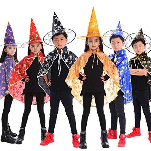 Mantellina Blu Robe Costume Femminile bambino Magico Strega Adulto Scialle halloween Wizard Cappello amp; Byste Mago Mantello Bambina STAzUanxq