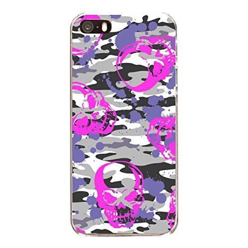 "Disagu Design Case Coque pour Apple iPhone SE Housse etui coque pochette ""Pink-Skull-Camouflage"""