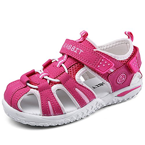 f36887ca2 Litfun Boy s Girl s Outdoor Athletic Sandals Close-Toe Strap Summer Beach  Kids Water Shoes by