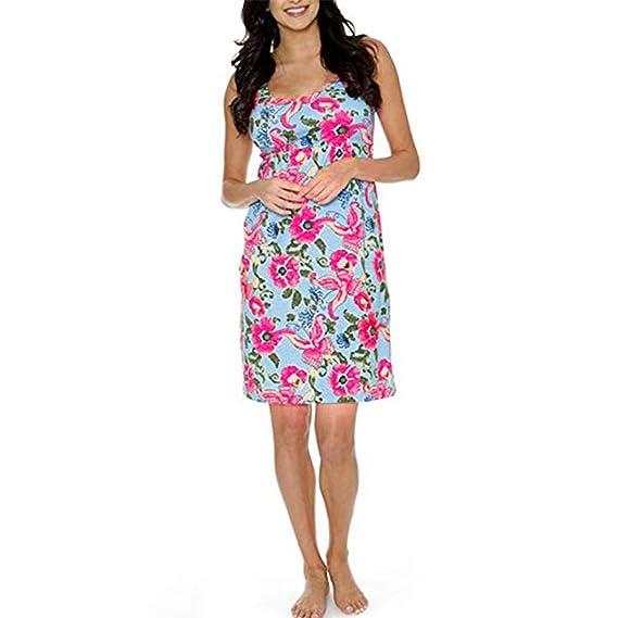 BBsmile Ropa premamá Embarazo de Las Mujeres Vestido Estampado Floral Maternidad sin Mangas Ropa de Sundress