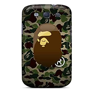 InesWeldon Samsung Galaxy S3 Protective Hard Phone Cover Support Personal Customs Trendy Camo Bape Series [Pvr3504swMn]