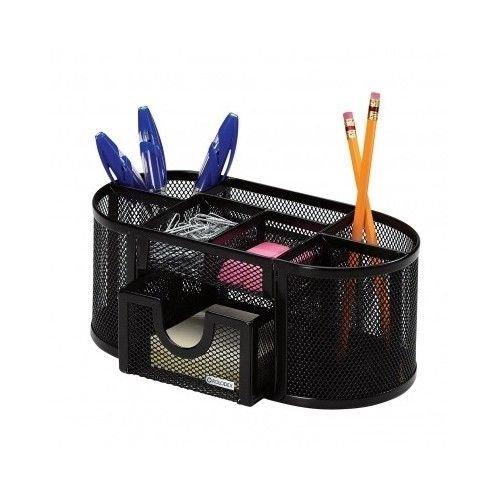 Mesh Black Organizer Office Desktop Holder Metal Pen Pencil Storage
