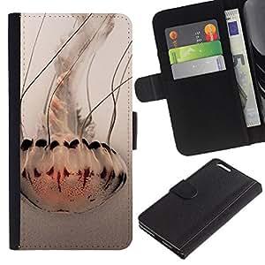 EJOY---La carpeta del tirón la caja de cuero de alta calidad de la PU Caso protector / Apple Iphone 6 PLUS 5.5 / --Paraguas Arte océano blanco