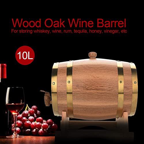 Oak Barrel, 5L Vintage Wood Oak Timber Wine Barrel Dispenser for Whiskey Aging Barrel Bourbon Tequila Brewing Port Kegs (5L) by Yosooo (Image #7)