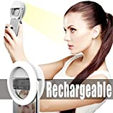 ALPHAGROUP l Ring Light for Camera with Rechargable Battery - Selfie Camera Ring Fill Light with 36 LED for iPhone iPad Samsung Galaxy Phones