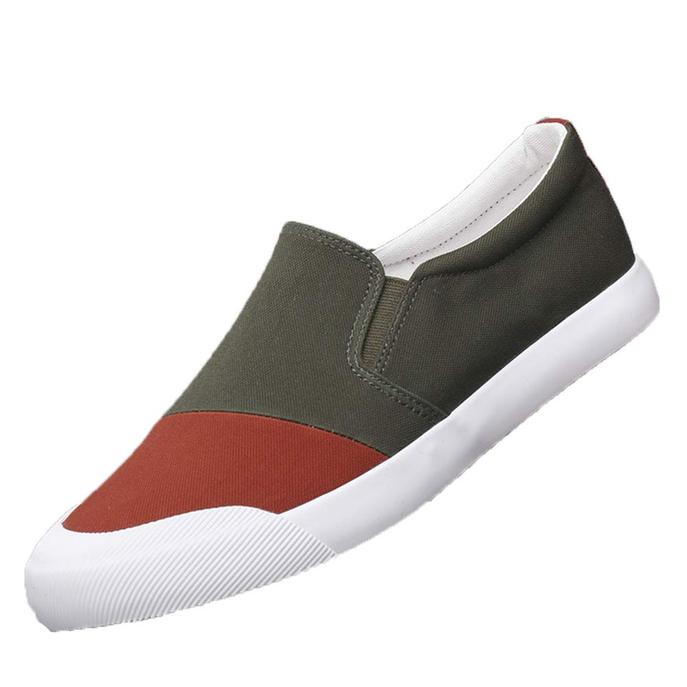 Fuxitoggo Herren Slip on Driving Schuhe Rutschfeste weiche Sohle Breathable Casual Durable Schuhes (Farbe : Grün, Größe : EU 41) Grün