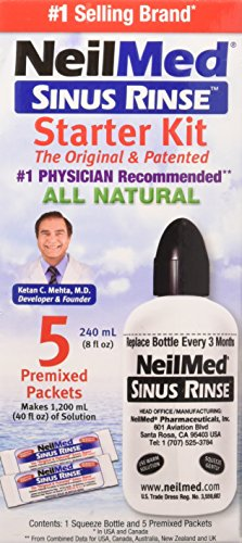 Sinus Rinse Adult Bottle Kit 8 Oz (Neilmed Ready Sinuflo Rinse)