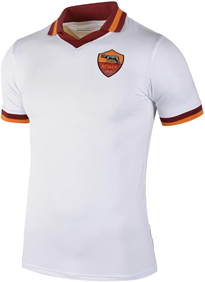 AS Roma Away Jersey SS White 13/14 Roma XXL White: Amazon.es: Ropa ...