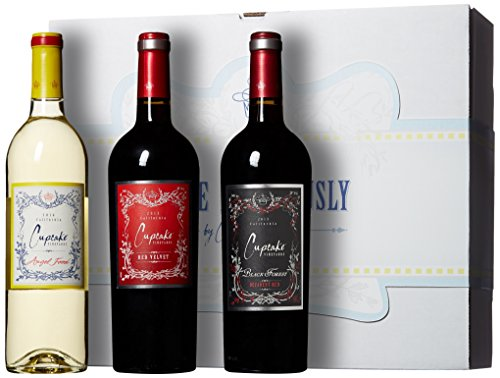 Cupcake Vineyards Love Deliciously Blends Wine Gift Box, 3 x 750 mL
