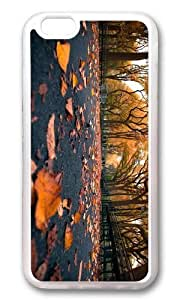 MOKSHOP Adorable autumn park leaves Soft Case Protective Shell Cell Phone Cover For Apple Iphone 6 Plus (5.5 Inch) - TPU Transparent