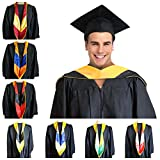 GRADWYSE Science Master Hood M.S. Graduation Master Degree Hood, Various College Colors Available Golden Yellow (Orange/Blue)