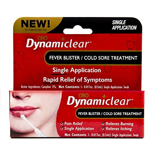 "Dynamiclear Non-Prescription Over the Counter Drug - Cold Sore/Fever Blister (""Herpes Outbreak"") Single Use Treatment with Camphor (.016 oz.)"