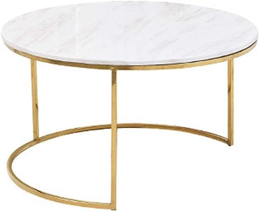 Simple Mesa de Centro de mármol/Lado de Acero Inoxidable, Plegable ...
