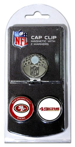 NFL San Francisco 49ers Cap Clip With 2 Golf Ball - Cap Golf Marker Ball