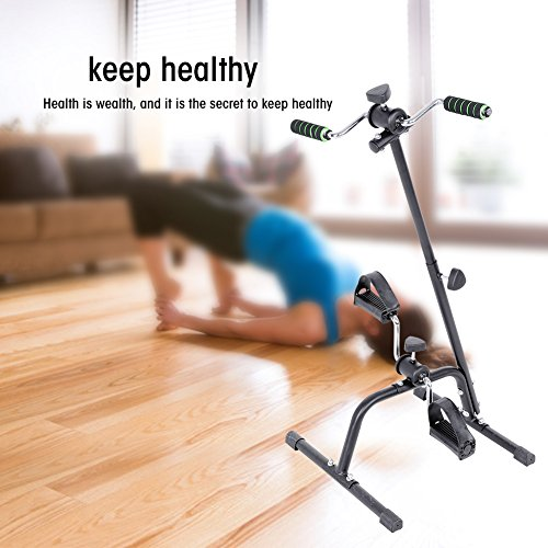 Yosoo Fitness Indoor Cycling Bike, Adjustable Body Arm Leg Exercising Bike Stainless Steel Indoor Fitness Bicycle Physical Therapy Machine by Yosoo