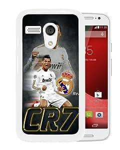 Newest Motorola Moto G Case ,CR7 White Motorola Moto G Cover Case Fashionable And Popular Designed Case Good Quality Phone Case