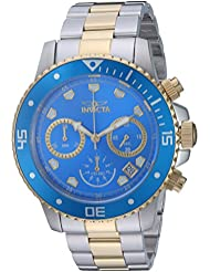 Invicta Mens Pro Diver Quartz Stainless Steel Diving Watch, Color:Two Tone (Model: 21892)