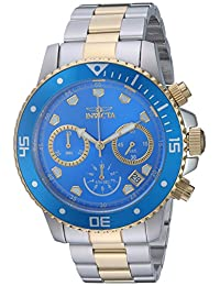Invicta Men's 'Pro Diver' Quartz Stainless Steel Casual Watch, Color:Two Tone (Model: 21892)