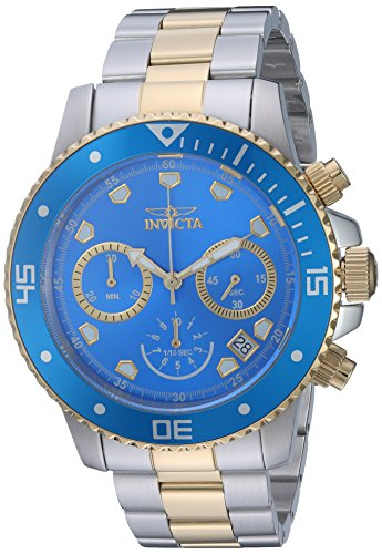 Invicta Men's Pro Diver Quartz Diving Watch with Stainless-Steel Strap, Two Tone, 9 (Model: 21892) ()