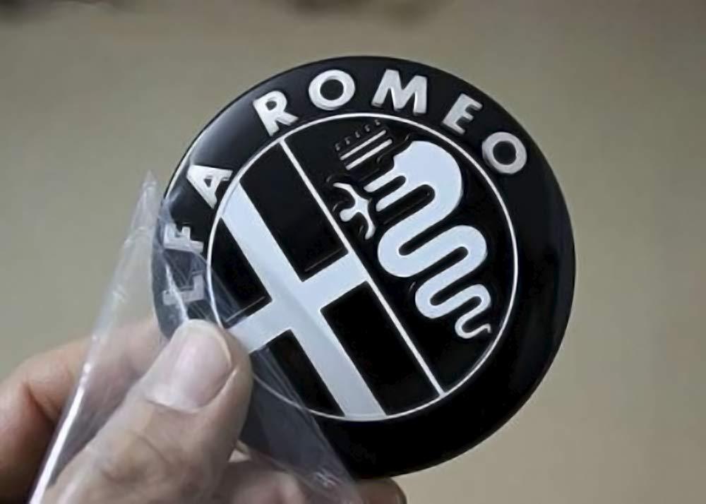 Badge nero Confezione di emblemi per cofano e baule da 74 mm di ricambio 2 unit/à
