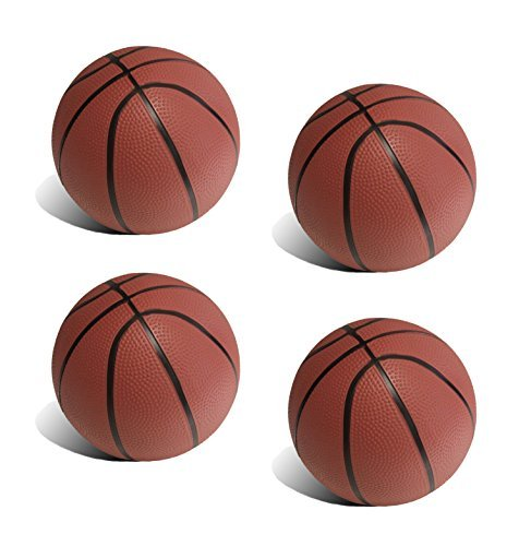 BGM Realistic Toddler/Kids Replacement Basketball - 5.82 inch Diameter 4 Pack