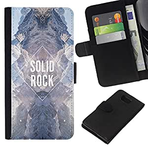 KLONGSHOP // Tirón de la caja Cartera de cuero con ranuras para tarjetas - diamante roca sólida cielo cielo universo - Samsung ALPHA G850 //
