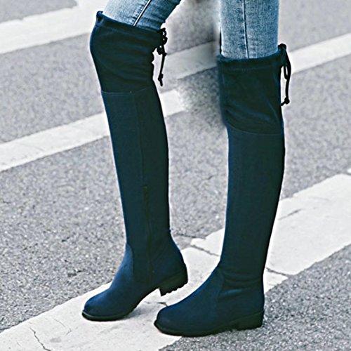 AIYOUMEI Women's Classic Boot Blue yBwFz