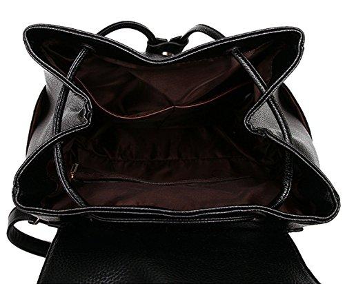 Tibes Zaino Borsello Donna Zaino Per Scuola Borsa Zaino Backpack Profondo blu