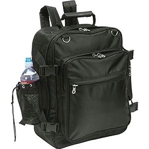 Dancing Stone Black Motorcycle Trunk Bag Backpack Saddlebag Sissy Bar Mesh Water Bottle Holder