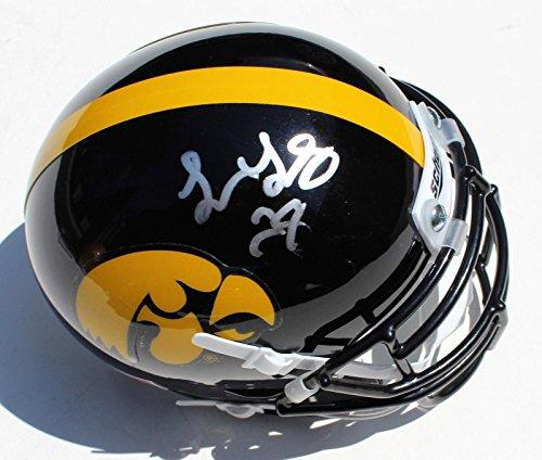 - Toren Young Signed Iowa Hawkeyes Mini Football Helmet w/COA C - Autographed College Mini Helmets