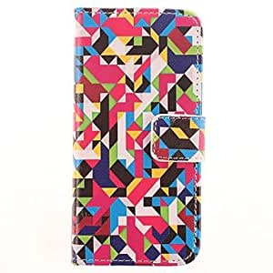 TOPQQ Complex Geometric Patterns PU Leather Case with Card Slot for iPhone 5/5S