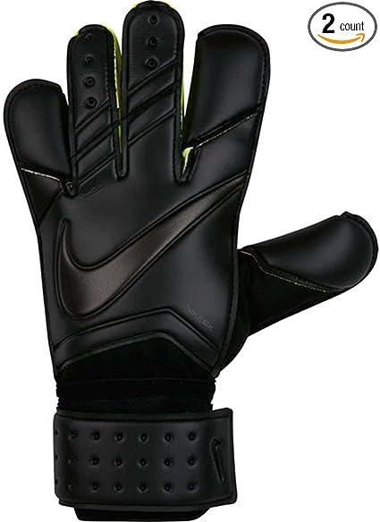 secuencia Temprano charla  Amazon.com : Nike Vapor Grip 3 Black/Black Goalkeeper Gloves - 7 : Sports &  Outdoors