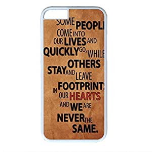 Heartbeat Custom Back Phone Case for iphone 6 4.7 PC Material White -1218268