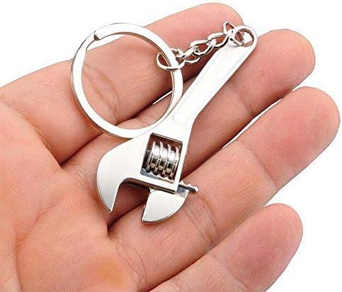 MOIKA Mini-cl/é Nouveau M/étal R/églable Cl/é Cr/éatif Outil Spanner Nouveaut/é Keychain Porte-clef Saint-Valentin Cadeau danniversaire
