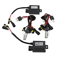 uxcell® 55W H4 Hid Conversion kit with SLIM Ballast Bi Xenon Hi Low 6000K