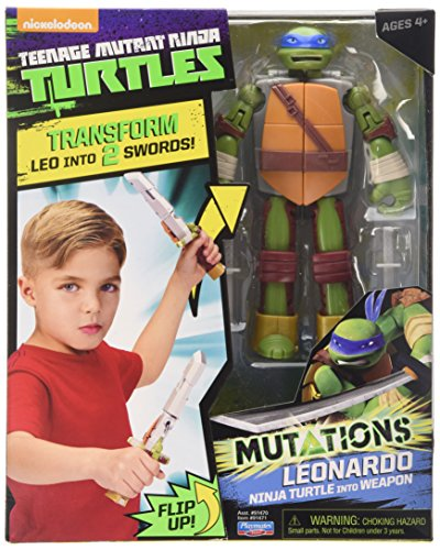 Teenage Mutant Ninja Turtles Turtle to Weapon Leo Mutations Deluxe Figures