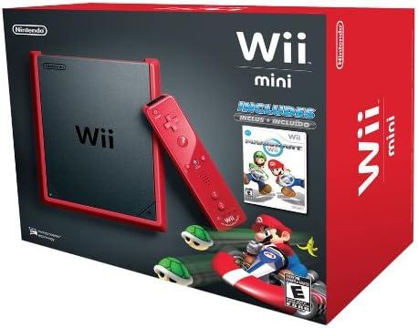 Nintendo Wii Mini + Mario Kart - juegos de PC (Wii, Negro, Rojo, Gamepad, Palanca de mando): Amazon.es: Videojuegos