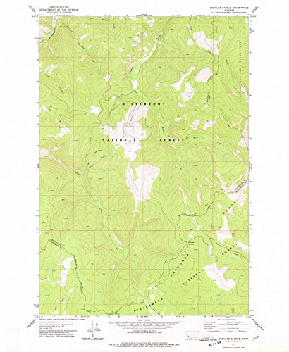Historic Map   Schultz Saddle, Montana (MT) 1977   USGS Historical Topographic Map   Vintage Chart Wall Art Poster Decor Reproduction   35in x 44in ()