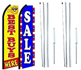 Sale Best Buys Here King Swooper Flag Sign With Complete Hybrid Pole set - Pack of 2