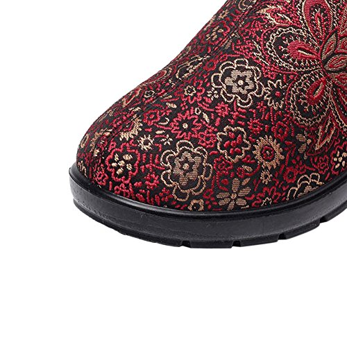 Fur Ankle Red Snow 1 Lined Faux Hzjundasi Ladies Women Boots UqBfHf
