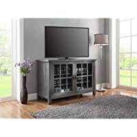 Better Homes and Gardens Oxford Square TV Stand and Console Is Designed to Accommodate Flat Panels TVs up to 55 up to 135 lbs, Gray