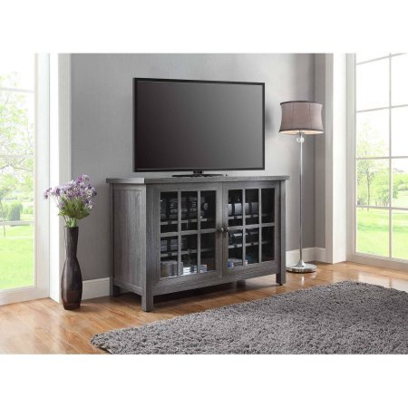 "Better Homes and Gardens Oxford Square TV Stand and Console is Designed to Accommodate Flat Panels TVs up to 55"" up to 135 lbs (Gray) from Better Homes & Gardens"