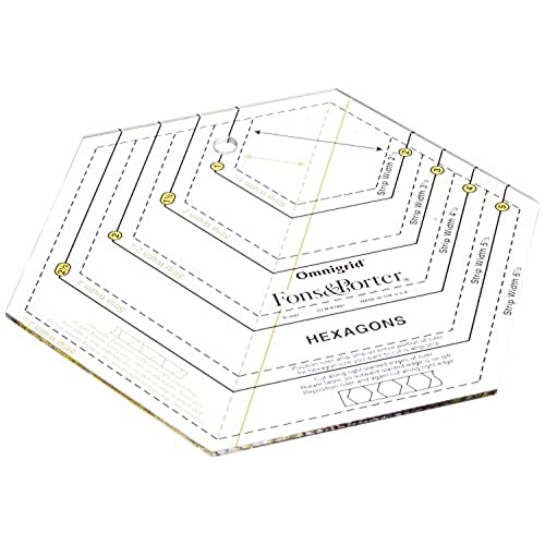 hexagon templates amazon com