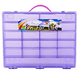 Pokemon TM Compatible Organizer - Perfect Pokemon TM figure Compatible Storage Case - Fits Up Approx 200 Characters, [Sturdy Case And Carrying Handle- Purple / Grape ] - Not with any figure
