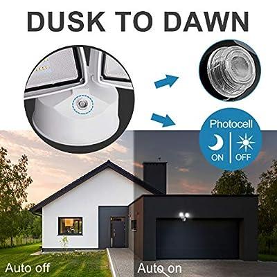 Amico 2Heads Dusk to Dawn Flood Light