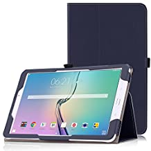 MoKo Tab E 9.6 Case - Slim Folding Cover for Samsung Galaxy Tab E / Tab E Nook 9.6 Inch 2015 Tablet (Fit Both WiFi and Verizon 4G LTE Version), INDIGO